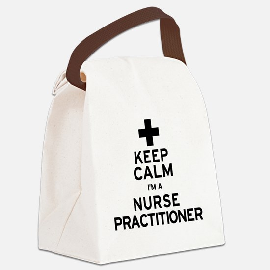 Keep Calm Nurse Practitioner Canvas Lunch Bag