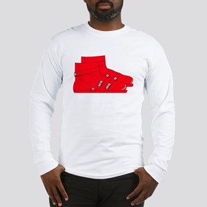 Red Ski Boots Long Sleeve T-Shirt