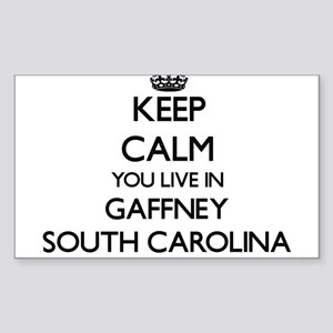 Keep calm you live in Gaffney South Caroli Sticker