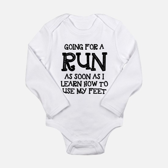 Future Runner Long Sleeve Infant Bodysuit