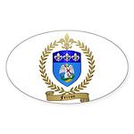 FERRON Family Crest Oval Sticker