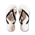 English Setter (Orange Belton) Flip Flops