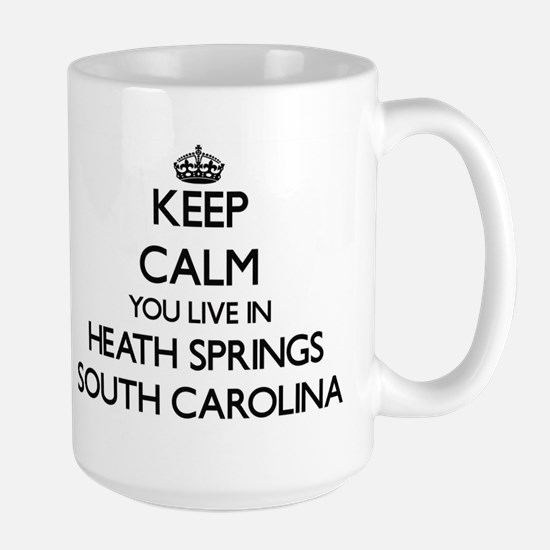 Keep calm you live in Heath Springs South Car Mugs