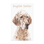 English Setter (Orange B Sticker (Rectangle 10 pk)