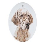 English Setter (Orange Belton) Oval Ornament