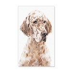 English Setter (Orange Belton) 20x12 Wall Decal
