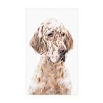 English Setter (Orange B Sticker (Rectangle 50 pk)