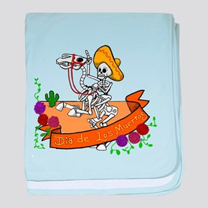 day of the dead baby blanket