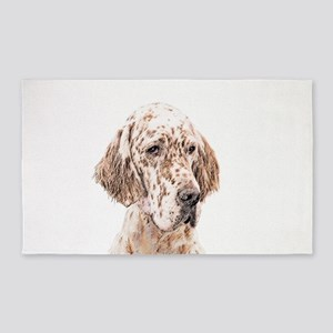 English Setter (Orange Belton) Area Rug