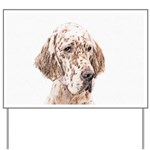 English Setter (Orange Belton) Yard Sign