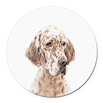 English Setter (Orange Belton) Round Car Magnet