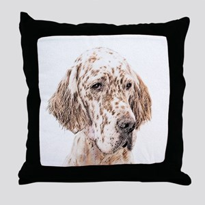 English Setter (Orange Belton) Throw Pillow