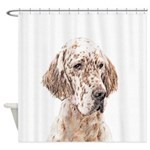 English Setter (Orange Belton) Shower Curtain
