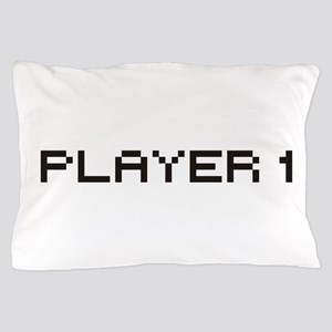 Player 1 8 Bit Pillow Case