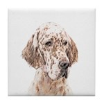 English Setter (Orange Belton) Tile Coaster