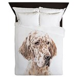 English Setter (Orange Belton) Queen Duvet