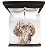 English Setter (Orange Belton) King Duvet