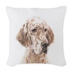 English Setter (Orange Belton) Woven Throw Pillow