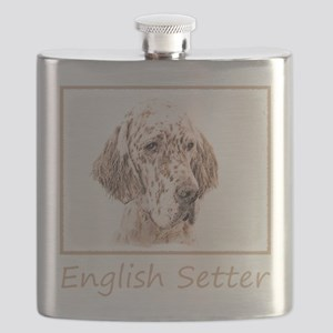 English Setter (Orange Belton) Flask