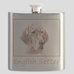 English Setter (Orange Belton) Flask