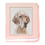 English Setter (Orange Belton) baby blanket