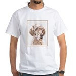 English Setter (Orange Belton) White T-Shirt