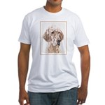 English Setter (Orange Belton) Fitted T-Shirt