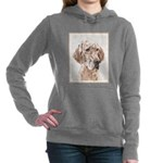 English Setter (Orange B Women's Hooded Sweatshirt