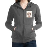 English Setter (Orange Belton) Women's Zip Hoodie