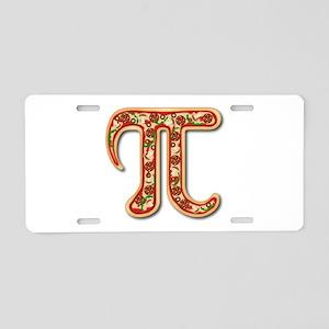 Pizza Pi Aluminum License Plate