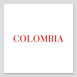 "Colombia-Bau red 400 Square Car Magnet 3"" x 3"""