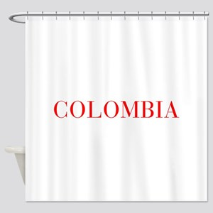 Colombia-Bau red 400 Shower Curtain