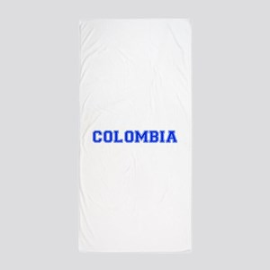 Colombia-Var blue 400 Beach Towel