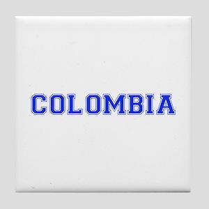 Colombia-Var blue 400 Tile Coaster