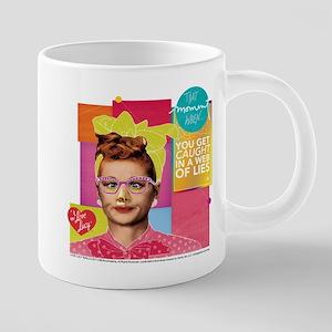 I Love Lucy Web of Lies 20 oz Ceramic Mega Mug