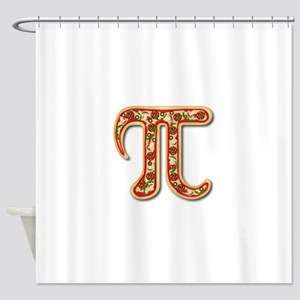 Pizza Pi Shower Curtain