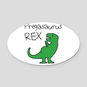 Pregasaurus Rex Oval Car Magnet