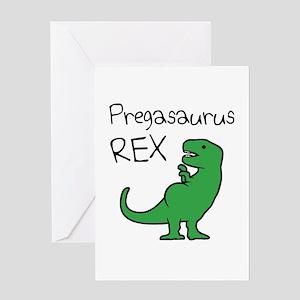 Pregasaurus Rex Greeting Cards