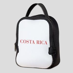 Costa Rica-Bau red 400 Neoprene Lunch Bag