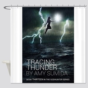 Tracing Thunder Shower Curtain