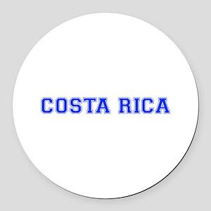 Costa Rica-Var blue 400 Round Car Magnet