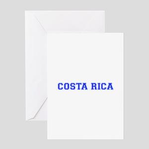 Costa Rica-Var blue 400 Greeting Cards