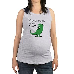d75319f0b27cd Pregasaurus Rex Maternity Tank Tops - CafePress