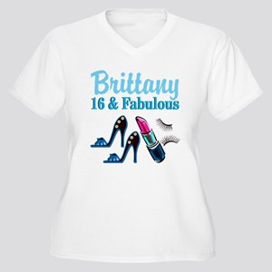 16 AND FABULOUS Women's Plus Size V-Neck T-Shirt