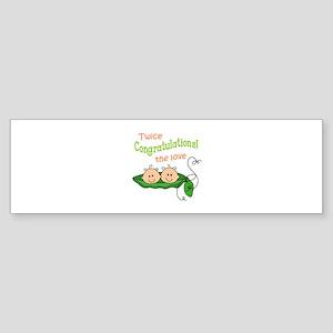 TWICE THE LOVE Bumper Sticker