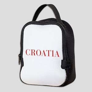 Croatia-Bau red 400 Neoprene Lunch Bag