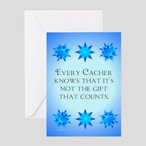 Geocacher Merry Christmas Greeting Card
