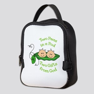 TWO GIFTS FROM GOD Neoprene Lunch Bag