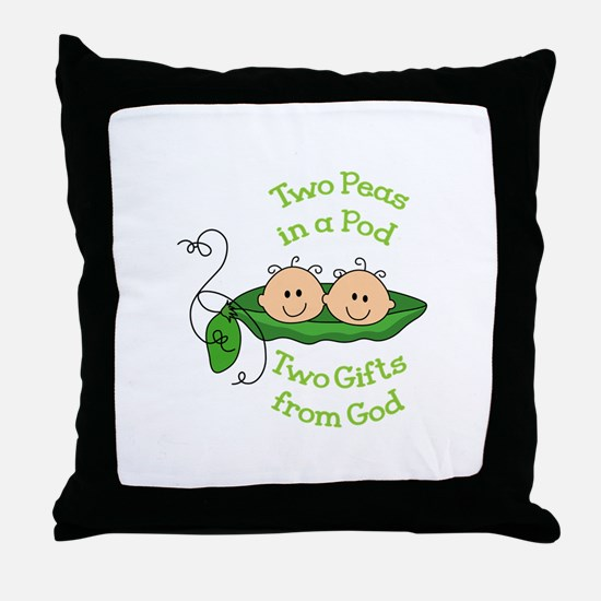 TWO GIFTS FROM GOD Throw Pillow