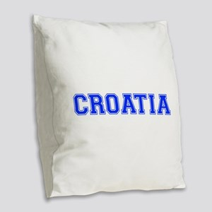Croatia-Var blue 400 Burlap Throw Pillow